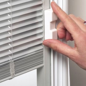 windows with blinds inside blinds between glass | Majestic Vinyl Windows and Patio Doors windows with blinds inside
